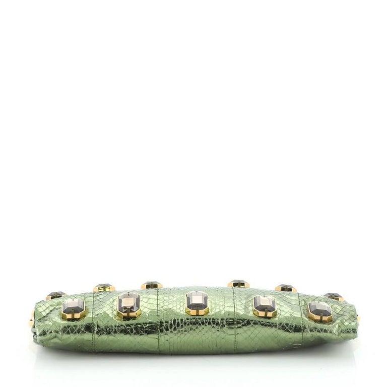 Women's or Men's Prada Whips Pietre Shoulder Bag Embelished Snakeskin Medium For Sale