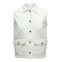 Prada White Button-Up Vest