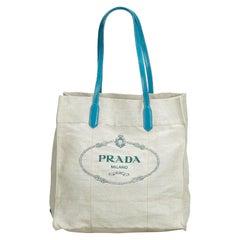 7cad6337c5e4 Prada Saffiano Grey Leather Tote Top Handle Bag W/ Detachable ...