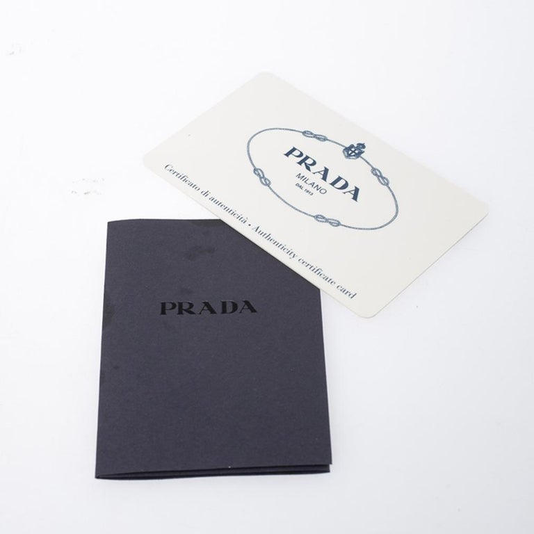Prada White Leather and Canvas Shoulder Bag For Sale 7