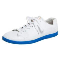 Prada White Leather Low Top Sneakers Size 42