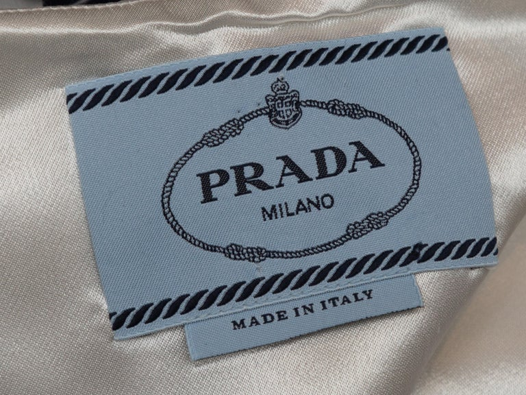 Prada White & Multicolor Striped Sleeveless Dress In Good Condition For Sale In New York, NY