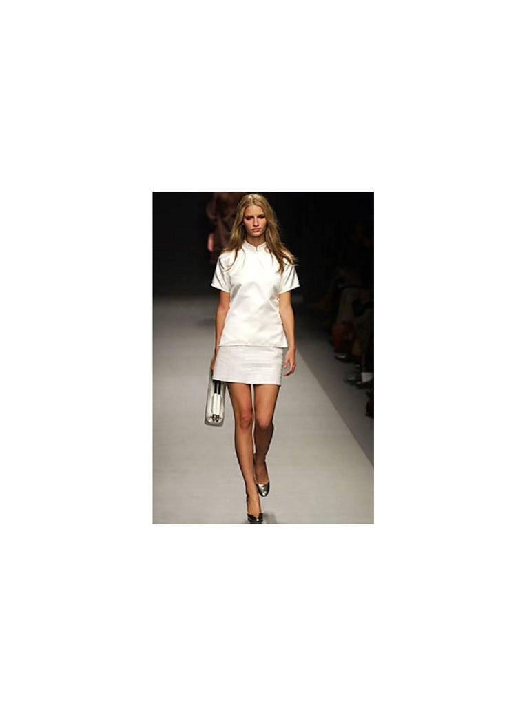 Women's Prada White XL Exotic Alligator Skin Bag Tote Hand Bag For Sale