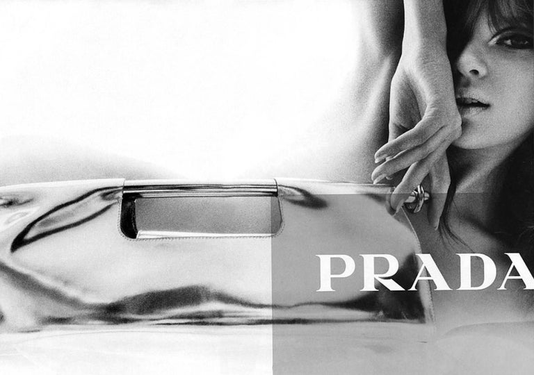 Prada White XL Exotic Alligator Skin Bag Tote Hand Bag For Sale 1