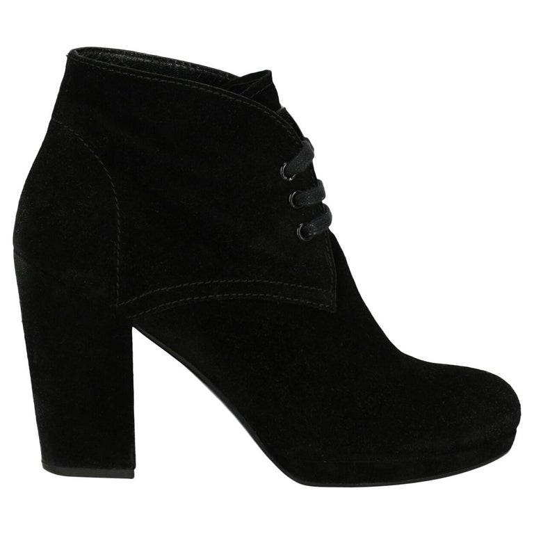 Prada Woman Ankle boots Black EU 36 For Sale