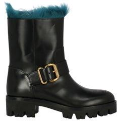Prada Woman Ankle boots Black, Navy IT 37