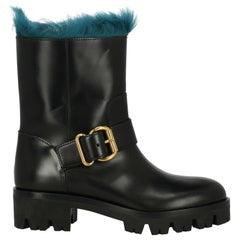 Prada Woman Ankle boots Black, Navy IT 39