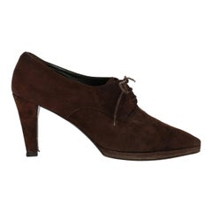 Prada Woman Ankle boots Brown Leather IT 39