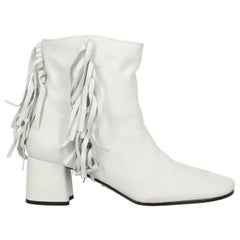Prada Woman Ankle boots White Leather IT 38