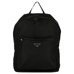 Prada Woman Backpacks Black Synthetic Fibers