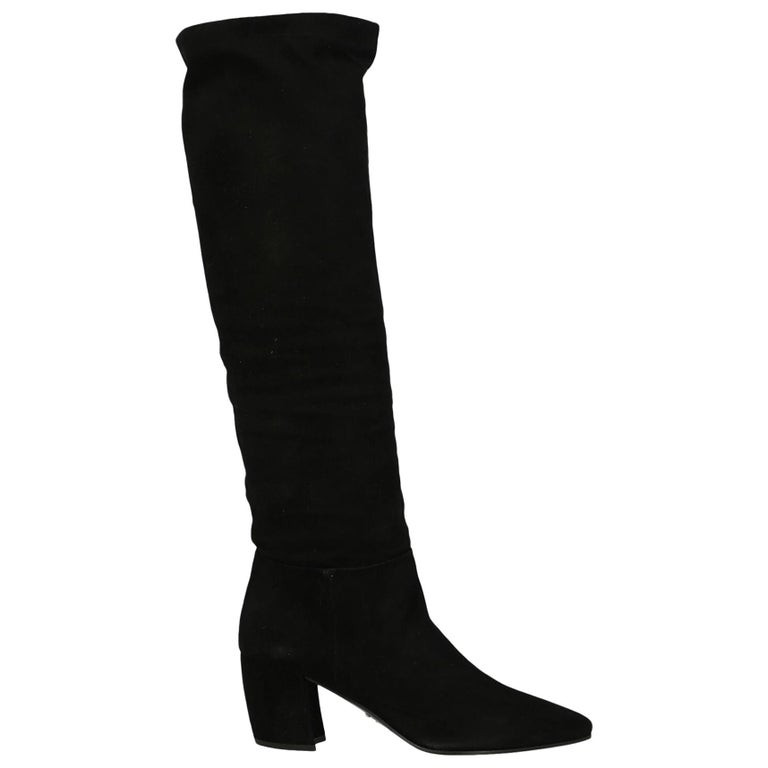 Prada Woman Boots Black IT 36 For Sale