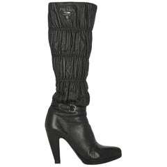 Prada Woman Boots Black Leather IT 38