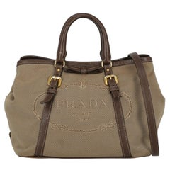 Prada Woman Handbag  Beige Cotton
