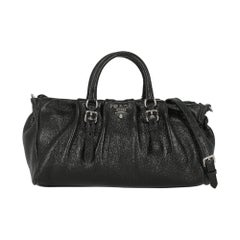 Prada Woman Handbag  Black Leather