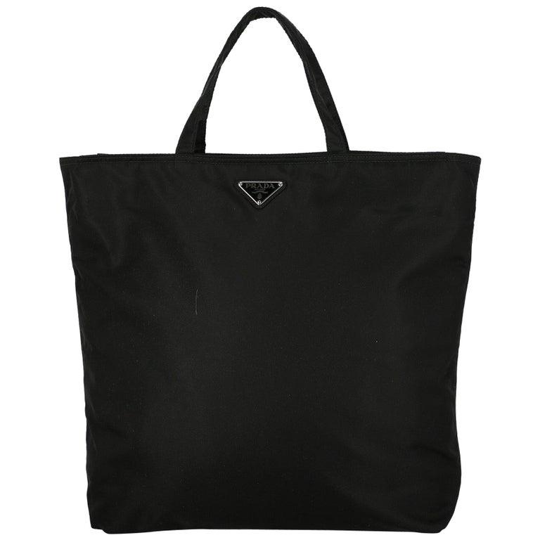 Prada Woman Handbag  Black Synthetic Fibers