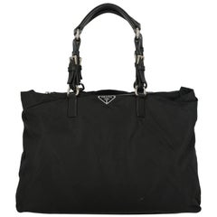 Prada Woman Handbag  Black Synthetic Fibers