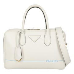 Prada Woman Handbag White Leather