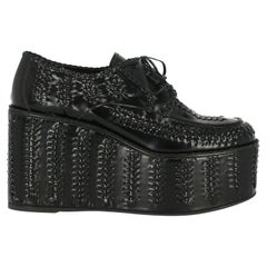 Prada Woman Lace-up Black Leather IT 39.5