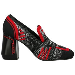 Prada Woman Loafers Black, Red, White EU 37.5