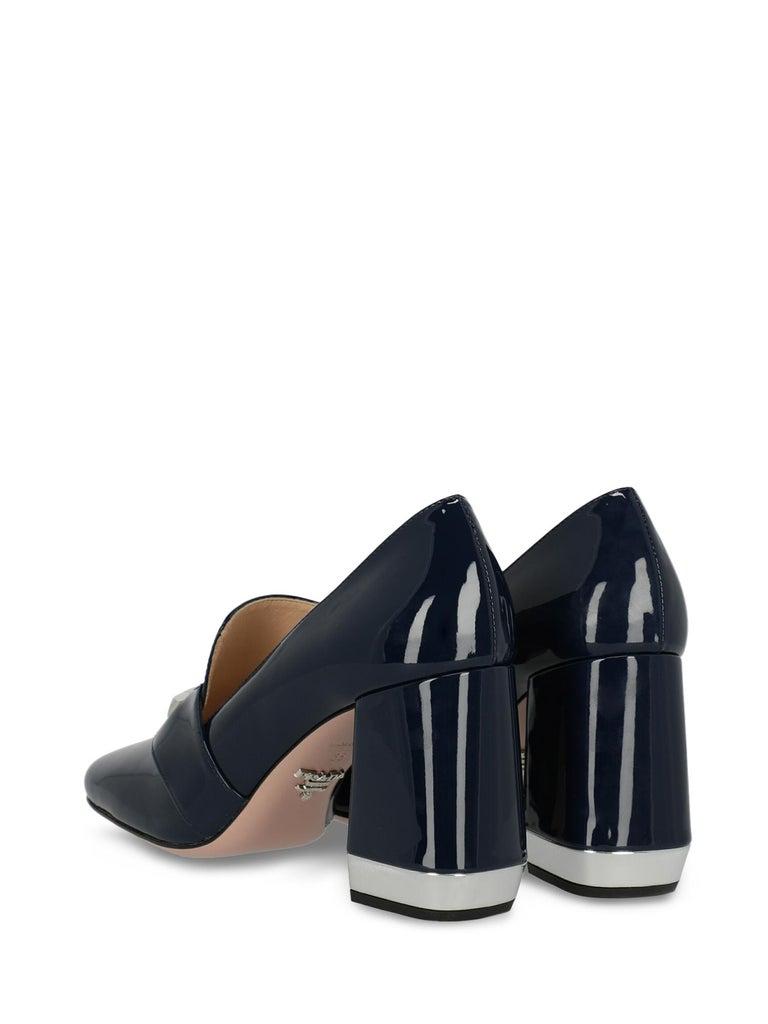 Black Prada Woman Loafers Navy EU 38