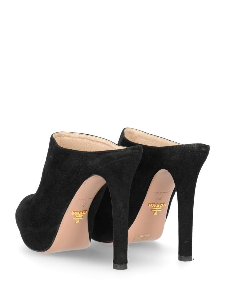 Prada Woman Mules Black EU 39 In Good Condition In Milan, IT