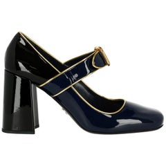 Prada Woman Pumps Black, Gold, Navy IT 40