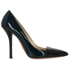 Prada Woman Pumps Black Leather IT 38.5