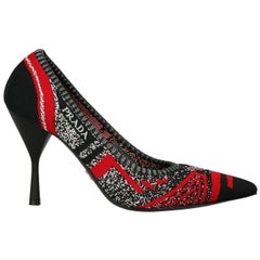 Prada Woman Pumps Black, Red, White EU 38