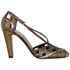Prada Woman Pumps Bronze, Silver IT 36.5