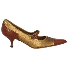 Prada Woman Pumps Brown Leather IT 35.5