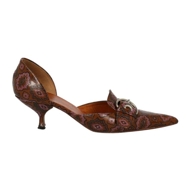 Prada Woman Pumps Brown Leather IT 38