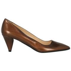 Prada Woman Pumps Brown Leather IT 40