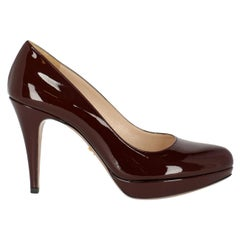 Prada Woman Pumps Burgundy EU 38.5
