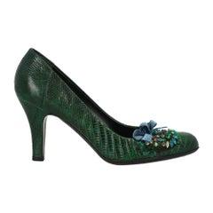 Prada Woman Pumps Green Leather IT 37.5