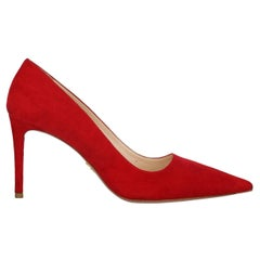Prada Woman Pumps Red Leather IT 39.5