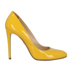 Prada Woman Pumps Yellow Leather IT 40