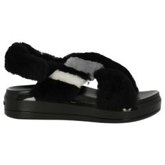 Prada Woman Sandals Black, Grey, White IT 36