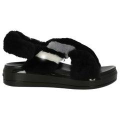 Prada Woman Sandals Black, Grey, White IT 37