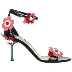 Prada Woman Sandals Black, Pink, Red IT 40