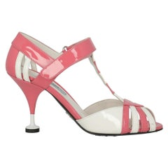 Prada Woman Sandals Pink Leather IT 37