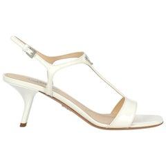 Prada Woman Sandals White Leather IT 39