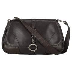 Prada Woman Shoulder bag Brown Leather