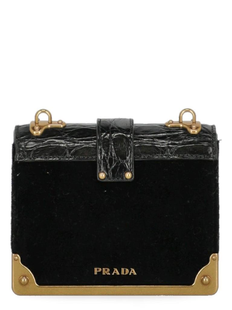 Women's Prada Woman Shoulder bag Cahier Black Fabric