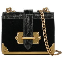Prada Woman Shoulder bag Cahier Black Fabric