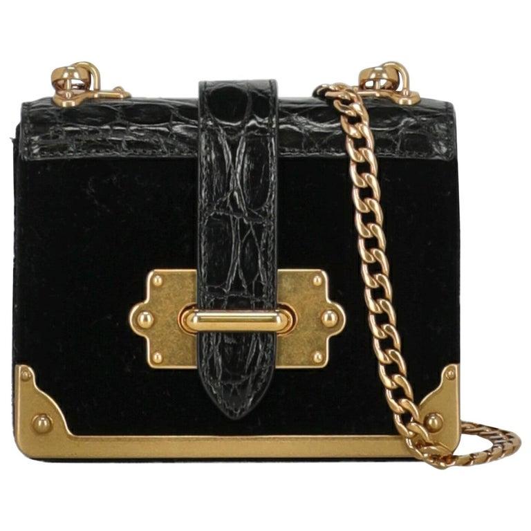 Prada Woman Shoulder bag Cahier Black Fabric