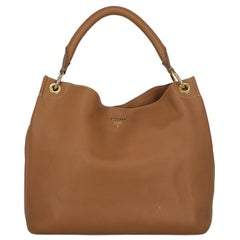 Prada Woman Shoulder bag  Camel Color Leather