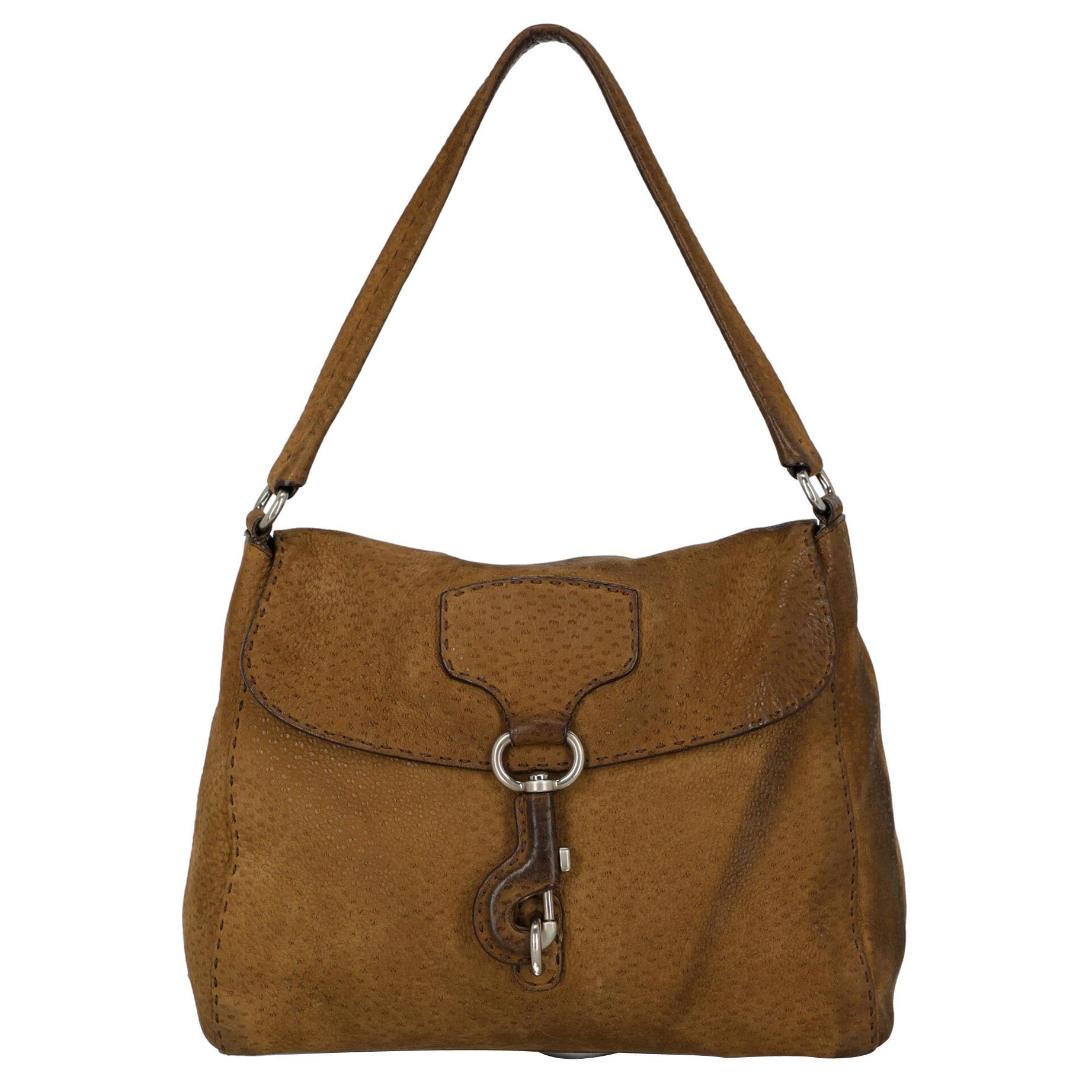 Prada Woman Shoulder bag Camel Color Leather