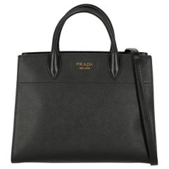Prada Woman Tote bag Black, White