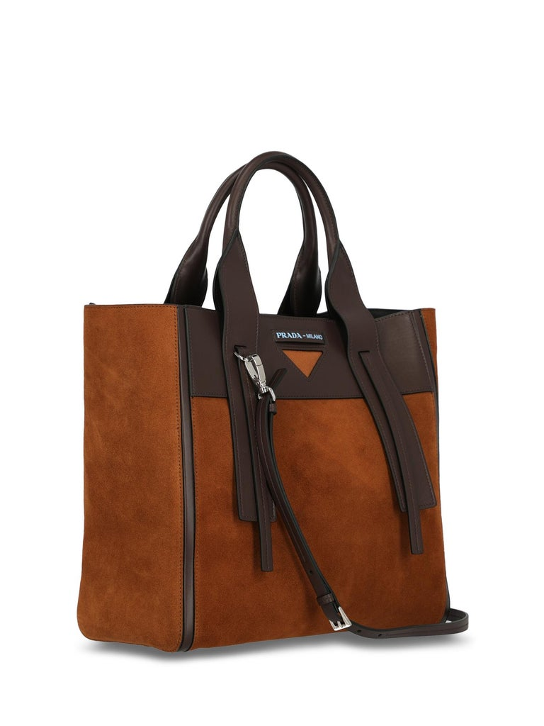 Prada Woman Tote bag Brown  In Excellent Condition For Sale In Milan, IT