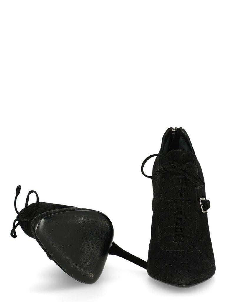 Women's Prada  Women   Ankle boots  Black Leather EU 37.5 For Sale